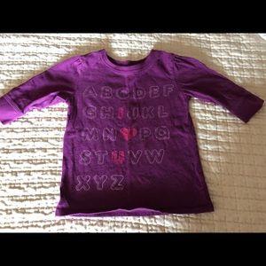 Old Navy Toddler Girl Alphabet Shirt